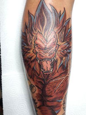 Broly Ozaru, always fun to work DBZ Tattoos. #ozaru #broly #dbztattoos #dragonballztattoo #animetattoo #fullcolortattoo #bigmonkey #artwork #eclectic #andrestorresart