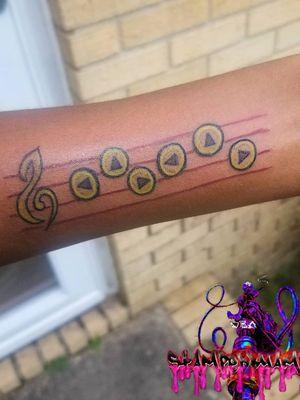 Zelda Video Game (Zelda Lullaby) Tattoo