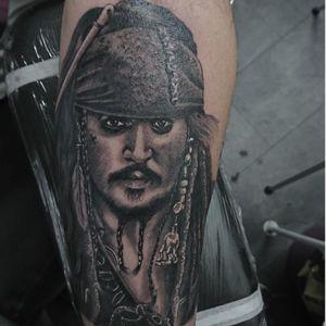 #tattoo #tattoos #tattooist #tattooartist #PiratesoftheCaribbean #PiratesoftheCarribeanTattoo #jacksparrow #jacksparrowtattoo #portrait #realistictattoo #realismtattoo #blackandgrey #blackandgreytattoo #johnnydepp #point2point #tattoostudio #erith #kent #southlondon