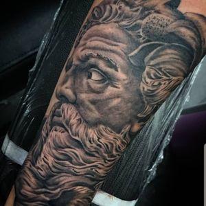 #tattoo #tattoos #tattooist #tattooartist #zeus #zeustattoo #greekgod #greekmythology #greekmythologytattoo #godtattoo #MythologyTattoos #blackandgrey #blackandgreytattoo #realistictattoo #realismtattoo #portrait #point2point #tattoostudio #erith #kent #southlondon