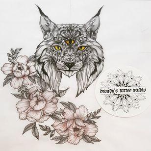 Something different! . #lynx #peonyflower #BTS #futuregoals #animaldrawing