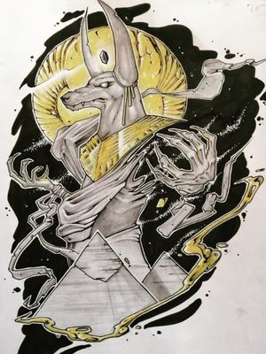 Anubis. Black and gold