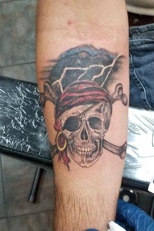 Pirate skull with crossbones