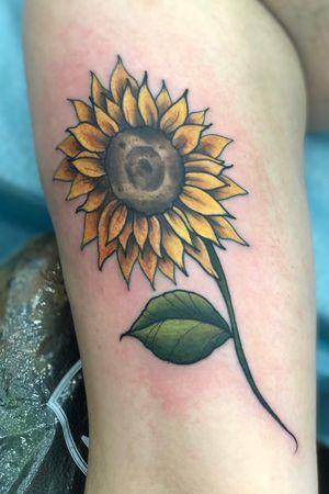 Sunflower 🌻 (Villain Arts Baltimore Tattoo Convention 2019)