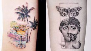 Cool tattoo on the left by Guseul Tattoo and cool tattoo on the right by Edit Paints #EditPaints #GuseulTattoo #cooltattoos #tattooidea #cooltattoo #cool #favorite #bestoftheday #tattoosforwomen #tattoosformen