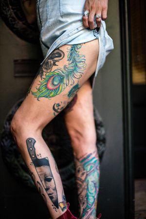 #legs #michaelmyers #peacockfeather #cheshirecat #Bioorganic