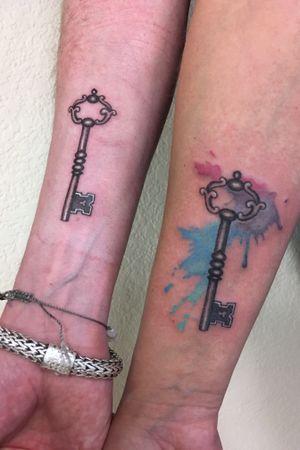 His and hers skeleton keys.
