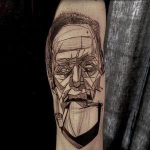 Illustrative tattoo by Jones Larsen #JonesLarsen #LacunaTattoo #realism #realistic ##mashup #tattoodoapp #tattooartist #tattooidea #cooltattoo #copenhagen #denmark #arm #illustrative #linework #dotwork