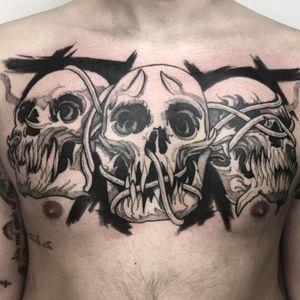 -Skull tattoo- #Black #blackworktattoo #blackworksubmissions #tattooart #tattooidea #tattoo #tattooblack #blacktattoo #tattooitalia #tattooitaly #skulltattoo #napolitattoo #blackworker