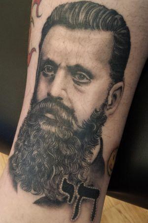 #blackandgrey #portrait #realism #photo #zionism #beard #Theodor #herzl
