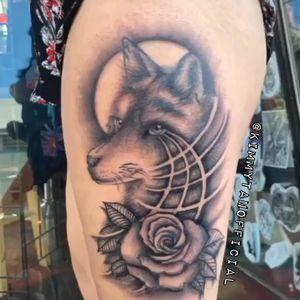 Original design Wolf tattoo by Kimmy Tan (IG @KimmyTanOfficial) 2019. Effects - Pixaloop
