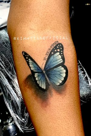 3D color butterfly tattoo by Kimmy Tan @KimmyTanOfficial. 2019. *Doing a deal for Tattoodo clients on 3D color butterflies for $350*