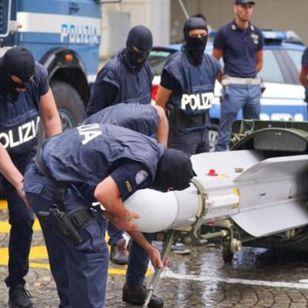 Turin Police Raid on Neo Nazi group - AP photo