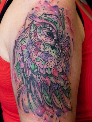 Watercolour owl ;) #dktattoos #dagmara #kokocinska #coventry #coventrytattoo #coventrytattooartist #coventrytattoostudio #emeraldink #emeraldinkltd #dagmarakokocinska #owl #owltattoo #watercolour #watercolorowl #tattoo #tattoos #tattooideas #tatt #tattooist #tattooshop #tattooedgirl #tattooforgirls #killerbee #immortalinnovations #sabre #pantheraink #eternalinks #radiantink