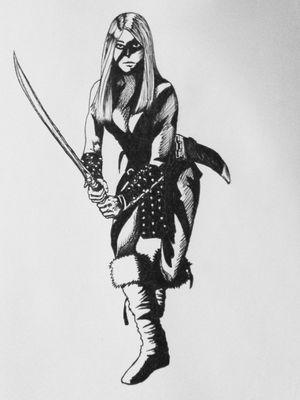 Valeria from Conan the barbarian. #conan #conantattoo #valeria #