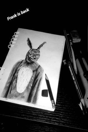 Frank de donnie darko #arte #dibujolapiz #dibujo #art  #artmagazine #frank #diseño #donniedarko #donniedarkotattoo #pelicula #colombia