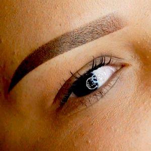 Tattoed eyebrow!