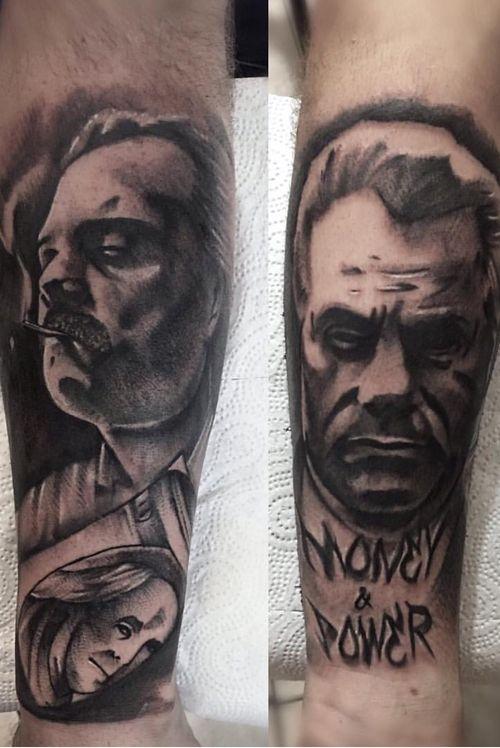 #Poland #polandtattoo #Spain #spaintattoo #tattooart #Escobar #blackandgrey #blackandgreytattoo #tat #tat2 #gangster #gangsters #mafia #tattoobody