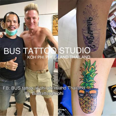#pineapple #pineappletattoo #coveruptattoo #tattooart #tattooartist #bambootattoothailand #traditional #tattooshop #at #Bustattoostudio #Bustattoophiphi #tattoophiphi #phiphiisland #thailand #tattoodo #tattooink #tattoo #phiphi #kohphiphi #thaibambooartis #phiphitattoo #thailandtattoo #thaitattoo https://instagram.com/Bustattoophiphi https://www.youtube.com/results?search_query=bus+bamboo+tattoo+phi+phi+studio https://www.facebook.com/bustattoophiphibambootattoo/ Artist by Bus BUS TATTOO STUDIO my shop has one branch on Phi Phi Island. Situated in the near koh phi phi police station , Located between the police station in Phi Phi Island and the World Med hospital !!!,