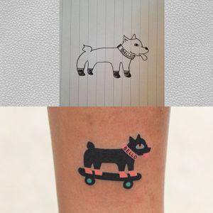 Dog tattoo by Zzizzi Boy #Zzizziboy #dogtattoos #dogtattoo #dog #animal #petportrait #pet #love #family