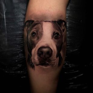 Dog tattoo by Ganga #Ganga #dogtattoos #dogtattoo #dog #animal #petportrait #pet #love #family