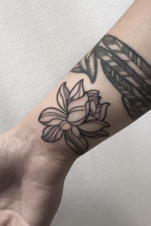 #lotus #blackwork #flower #berlin