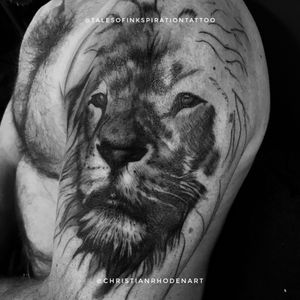 Started this upper sleeve lion at the Maidstone Tattoo convention this year! Cant wait to get back kn it