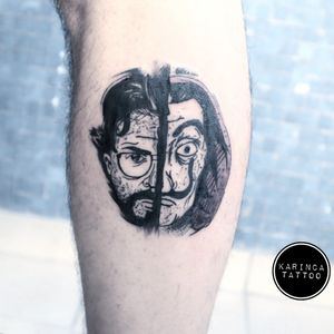 La casa de papel Instagram: @karincatattoo #lacasadepapel #film #series #elprofessor #netflix #tattoo #tattoos #tattoodesign #tattooartist #tattooer #tattoostudio #tattoolove #ink #tattooed #dali #dövme #dövmeci #design #istanbul #turkey #kadıköy