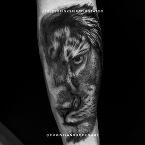 Close up lion as a start to my bros sleeve.
