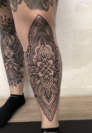 #Ornamental #leg #tattoo