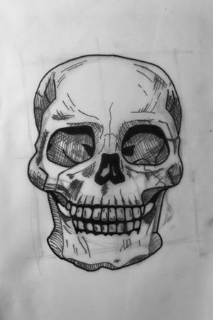 My first sketch! #skull #sketch #shanghai