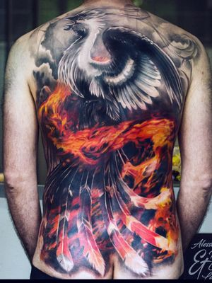Full back, my full colour work with Alessandro Raggi's black and grey