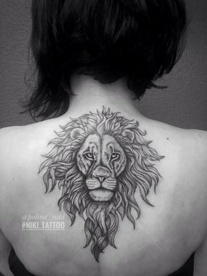 Instagram @polina_niki #tattoospb #spbtattoo #graphictattoo #graphic #liontattoo #tattoolion #lion #niki_tattoo