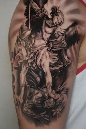 #realism Archangel arm piece :) done in about 7 hours total