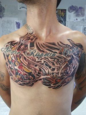 Koi fishes on chest...Thanks for looking. #AsianTattoos #koifishtattoo #asianart #custom #originalart #vancouvertattooartist #byjncustoms