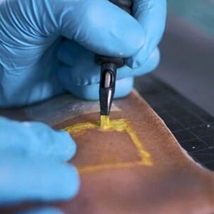 Carson Bruns smart tattoo #smarttattoo #tattootech #tattootechnology #biowearables #temporarytattoo #techtattoo #technology