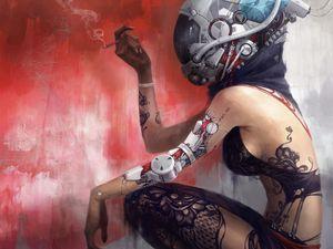 Cyber gal #smarttattoo #tattootech #tattootechnology #biowearables #temporarytattoo #techtattoo #technology