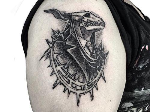 Dark art tattoo by Israel #Israel #Motorink #MotoinkFinestTattooing #Amsterdam #Amsterdamtattoo #Amsterdamtattoostudio #tattoostudio #tattooartists #tattooidea #besttattoo #cooltattoo #darkart #arm