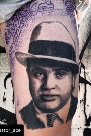 """""""Be careful who you call your friends. I'd rather have four quarters than one hundred pennies."""" Al Capone In progress by nestor_ace Leg sleeve in progress #alcapone #gangster #chicago #scarface #bigal #bigboy #boss #chicagooutfit #1920s #vancouver #vancouvertattoo #vancity #vancouverisland #realism #tattoobooth #burnabybc #surreybc #langleybc #surreybc #besttattoos #bestrealism #bc #westcoast"""