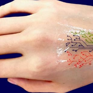MIT living tattoo #smarttattoo #tattootech #tattootechnology #biowearables #temporarytattoo #techtattoo #technology