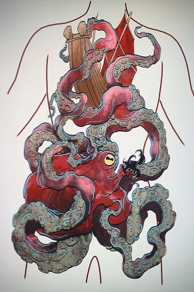 ◾️release the Kraken◾️ #flashtattoo #tattooproject #kraken #japanese