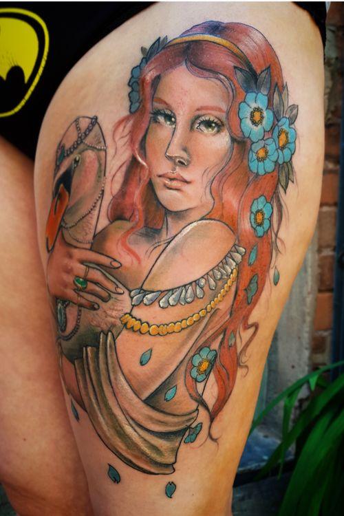 Aphrodite on thigh