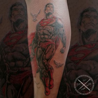 Very funny session 🤙🏻🙏🏻💯 comics, mangas and japanese style are the most funny stuff to ink 💉🔥 #superman #comics #colourtattoo #blackandgrey #intenzetattooink #fkirons #bishoprotary #fadetheitch #stencilstuff #inkeeze #kwadron #ink #inked #inkedlife #inkedmag #tattoo #tattooist #tattooartist #artist #artwork #tattoooftheday #picoftheday #photooftheday #France #thomtats7 @thomtats7