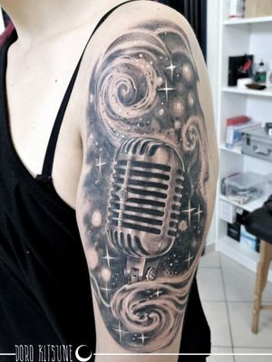 Microphone shure tattoo microfono