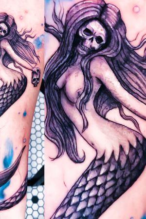 #skull #mermaid #siren