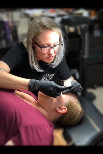 Cosmetic Tattoos By Sam Minney Www.ironkeystudio.com #cosmetic #permanentmakeup #makeup #MakeupArtist #pmu #smp #eyeliner #eyebrow