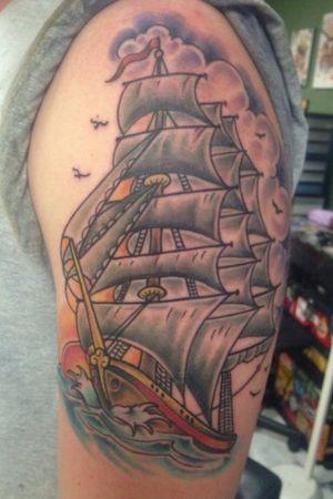 Clipper ship.