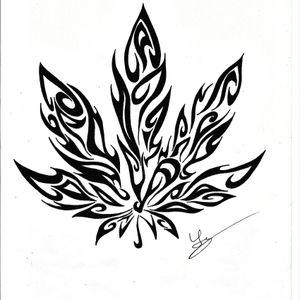#tattoodesign#tattooartist#weed#tribal#fineline#blackandwhite Draw tattoo extract