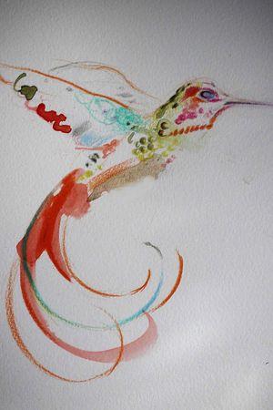 Designed by @Bartt_tattoo highonartstudio@gmail.com #design #hummingbird #watercolor #bartt #tattoolondon #londonink #londontattooartist
