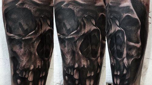 Skull from today💀#poland #tattoo #tattoos #skull #skulltattoo #blackandgrey